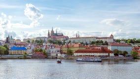 grodowej Europe starej fotografii Prague rzeczny podróży vltava Obraz Royalty Free