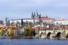 grodowej Europe starej fotografii Prague rzeczny podróży vltava Zdjęcie Stock