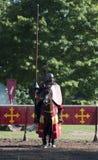 grodowi joust rycerze średniowieczni czekania warwick obrazy stock