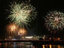 grodowi Krakow ponad wawel fajerwerki Zdjęcie Royalty Free