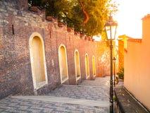 Grodowi schodki prowadzi od Praga kasztelu, Hracany, Praga, republika czech Obrazy Stock
