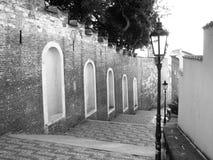 Grodowi schodki prowadzi od Praga kasztelu, Hracany, Praga, republika czech Obraz Royalty Free
