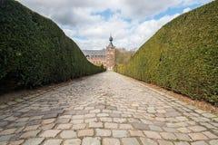 Grodowy Arenberg w Leuven, Belgia na pogodnym, letni dzień Zdjęcia Royalty Free