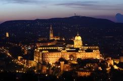 grodowy Budapest półmrok Zdjęcia Royalty Free