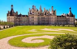 Grodowy Chambord w Loire dolinie Francja Budujący w 1519-1547 zdjęcia stock