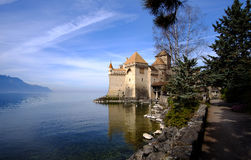 grodowy chillon Switzerland Obraz Royalty Free