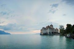 grodowy chillon Switzerland Montreaux, Jeziorny Geneve, jeden odwiedzony kasztel w szwajcarze, przyciąga więcej niż 300.000 gości zdjęcie royalty free