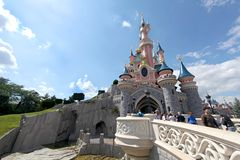 grodowy Disneyland Paris Obraz Royalty Free