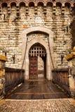 grodowy drzwiowy drawbridge zdjęcie stock