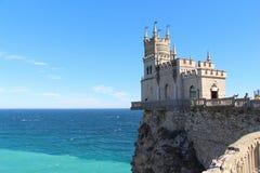Grodowy dymówki gniazdeczko w Yalta w Crimea zdjęcie stock