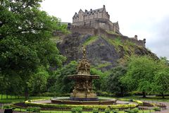 grodowy Edinburgh Scotland Fotografia Royalty Free