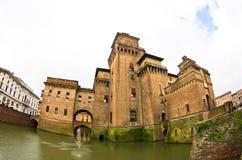 Grodowy Estense, miasto Ferrara, gubernialny emilia Obrazy Stock