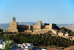 Grodowy forteca, Antequera, Hiszpania. obrazy stock