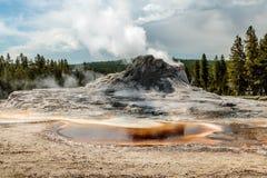 Grodowy gejzer, Yellowstone park narodowy Zdjęcie Royalty Free