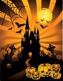 grodowy Halloween nawiedzający wektor ilustracji