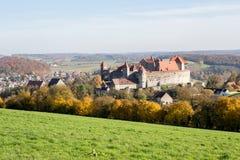Grodowy Harburg w bavaria, Niemcy zdjęcie stock