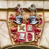Grodowy Heraldyczny emblemat, rycerza symbol Zdjęcia Royalty Free