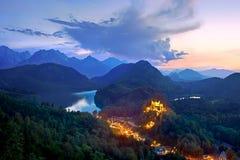 Grodowy Hohenschwangau, Bavaria, Niemcy. Zdjęcia Stock