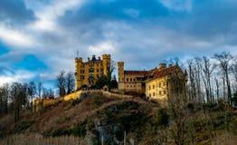 Grodowy Hohenschwangau, Bavaria Niemcy, Styczeń, - 19,2018 Fotografia Royalty Free