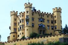 Grodowy Hohenschwangau w Niemcy jest kasztelem dokąd Louis II Bavaria żył w jego młodości Fotografia Royalty Free