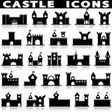 Grodowy ikona set Obraz Royalty Free