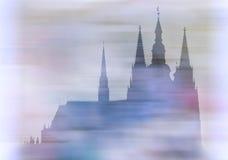 grodowy katedralny Prague royalty ilustracja