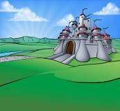 Grodowy kreskówki sceny tło Fotografia Royalty Free