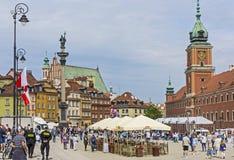 Grodowy kwadrat w centrum Warszawa obraz stock