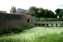 Grodowy Loevenstein wzdłuż rzecznego Waal Zdjęcie Royalty Free