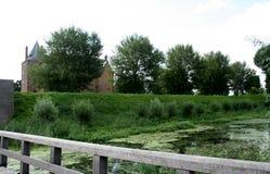 Grodowy Loevenstein wzdłuż rzecznego Waal Obrazy Royalty Free
