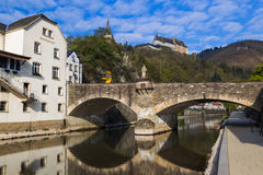 grodowy Luxembourg vianden Fotografia Stock
