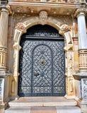 Grodowy metalu drzwi Fotografia Stock