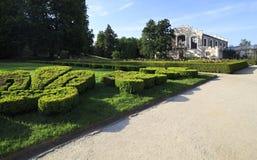 Grodowy ogród blisko Hluboka kasztelu Zdjęcie Stock
