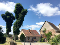Grodowy ogród Górska chata De Los Angeles Pierre Roszujący los angeles Mały Pierre w ładnym lato czasie z Vosges Du Nord Na, woko Obrazy Stock
