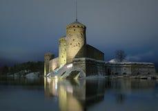 Grodowy Olavinlinna w Savonlinna, Finlandia Fotografia Stock