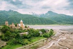 Grodowy powikłany Ananuri w Gruzja, wokoło 72 kilometru od Tbilisi Obrazy Royalty Free