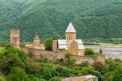 Grodowy powikłany Ananuri w Gruzja, wokoło 72 kilometru od Tbilisi Zdjęcie Royalty Free