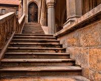 grodowy średniowieczny schody Obrazy Royalty Free