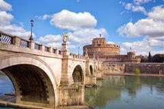 Grodowy sant Angelo w Rzym Zdjęcia Stock