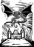 grodowy smok royalty ilustracja