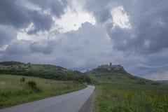 Grodowy Spisek krajobraz na burzowym wieczór zdjęcie royalty free