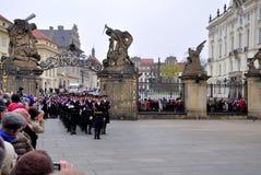 grodowy strażowy zaszczyt Prague Fotografia Royalty Free