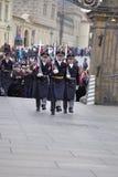 grodowy strażowy zaszczyt Prague Obraz Stock