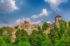 Grodowy Tenczyn w Rudno Polska fotografia royalty free