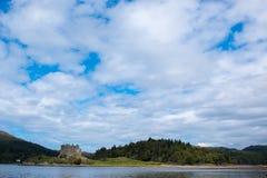 Grodowy Tioram Scotland zlany królestwo Europe obrazy royalty free