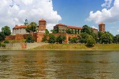 Grodowy Wawel w Krakow w słonecznym dniu Polska Obraz Royalty Free