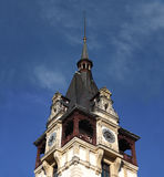 Grodowy wierza z zegarem Zdjęcie Royalty Free