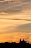 Grodowy wschód słońca Zdjęcie Royalty Free