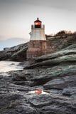 Grodowy wzgórze latarni morskiej odbicie Obraz Royalty Free