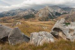 Grodowy wzgórze, Południowa wyspa, Nowa Zelandia Obrazy Royalty Free